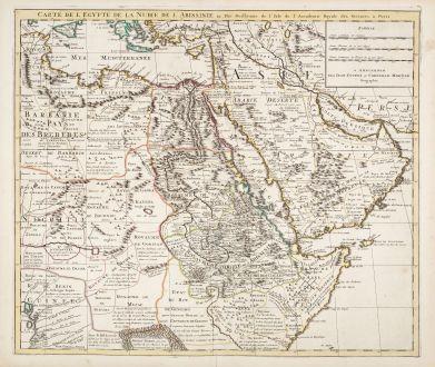 Antique Maps, de l Isle, Egypt, 1730: Carte de l'Egypte de la Nubie de l'Abissinie