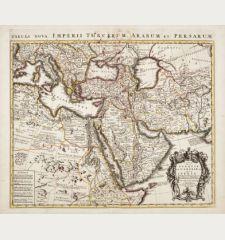 Carte de la Turquie de l'Arabie et de la Perse / Tabula Nova Imperii Turcarum, Arabum et Persarum