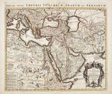 Antike Landkarten, de l Isle, Mittlerer Osten, 1730: Carte de la Turquie de l'Arabie et de la Perse / Tabula Nova Imperii Turcarum, Arabum et Persarum