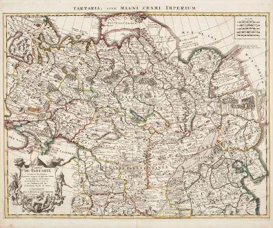 Antike Landkarten, de l Isle, Russland, 1730: Carte de Tartarie Dressee sur les Relations de Plusieurs Voyageurs de Differentes Nations... / Tartaria, sive magni chami...