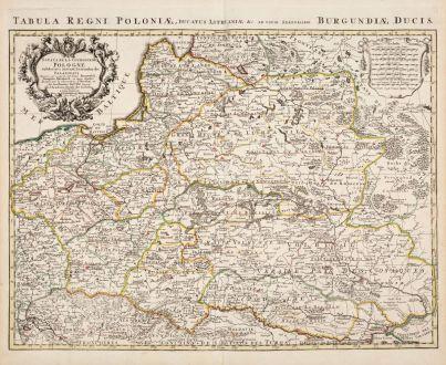 Antique Maps, de l Isle, Poland, 1730: Estats de la Couronne de Pologne / Tabula Regni Poloniae