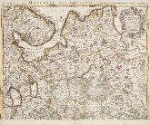 Altkolorierte Landkarte von Russland. Gedruckt bei Covens & Mortier um 1730 in Amsterdam.