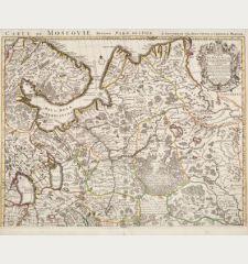 Carte de Moscovie. Dressee par Guillaume De l'Isle...