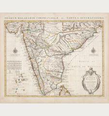 Carte des Cotes de Malabar et de Coromandel / Orarum Malabariae, Coromandelae...