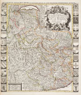 Antique Maps, Jaillot, France, Piedmont, Savoy, 1730: Les Estats de Savoye et de Piemont / Status Sabaudiae Ducis