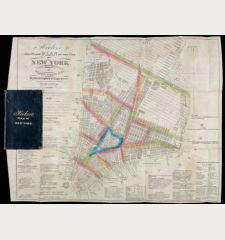 Hooker's New Pocket Plan Of The City Of New York. Compiled & Surveyed By William Hooker, ACSA Hydrographer & Engraver.