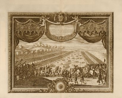 Antique Maps, Pufendorf, Poland, Second Northern War, 1697: Repraesentatio Solennis Pompae, qua Ser. ac Potentiß. Sueciae Rex a Celfiß. Transilvaniae Principie Dn. Georgio Rakozio ...
