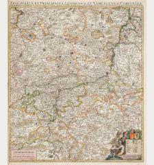 Episcopatus et Principatus Leodiensis et Namurcensis Comitatus, cum Brabantiae, Luxemburgi