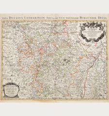 La Lorraine, qui comprend les Duchés de Lorraine et de Bar, et Les Balliages des Eveschés et des Villes de Metz, Toul, et...