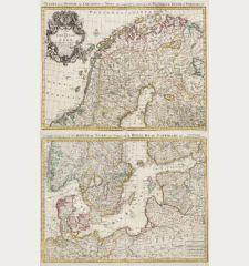 Carte des Courones du Nord / Teatre de la Guerre des Courones du Nord...