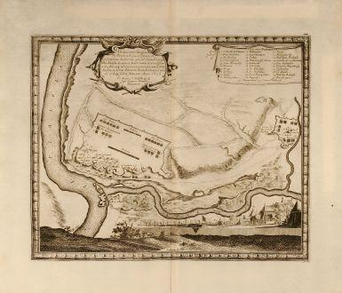 Antique Maps, Pufendorf, Poland, Vistula, Wisla, Nowy Dwor, 1697: Delineatio Regionis Vbi Wistula, et Bugus confluunt , vt et Castrorum Suedicorum ...
