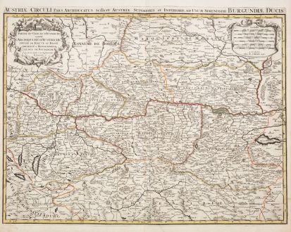 Antique Maps, Jaillot, Austria - Hungary, 1696: Partie du Cercle d'Austriche, Scavoir l'Archduche d'Austriche / Austriae Circuli...