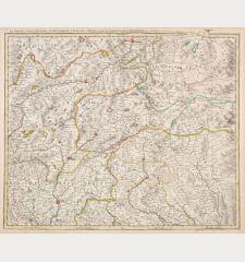 Le Comte de Tirol, l'Evesche et Comte de Trente .. Brixen .. Salzburg ..