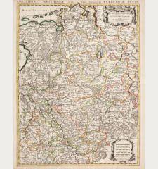 Le Cercle de Westphalie divise en tous ses Estats / Nova Circuli Westphaliae...