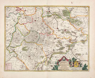 Antique Maps, de Wit, Germany, Saxony, 1720: Marchionatus Misniae Ditio Generalis...