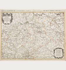 Le Cercle de la Haute Saxe ou sont Compris le Duche et Electorat de Saxe...