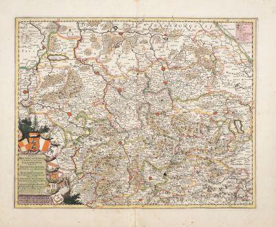 Antique Maps, de Wit, Germany, Lower Saxony, 1680: Ducatus Brunsuicensis in Eiusdem tres Principatus Calenbergicum...