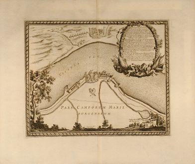 Antique Maps, von Pufendorf, Poland, Malbork, Vistula, 1697: Delineatio Fortality Polonorum ad Lysouiam quo a Serenissimo Principe Palatino Adolpho Johanne Supremo Duce militiae Sueciae