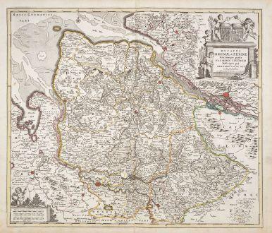 Antike Landkarten, de Wit, Deutschland, Niedersachsen, 1720: Ducatus Bremae & Ferdae maximaeque partis fluminis Visurgis