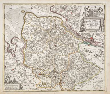 Antique Maps, de Wit, Germany, Lower Saxony, 1720: Ducatus Bremae & Ferdae maximaeque partis fluminis Visurgis
