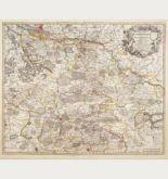 Altkolorierte Landkarte von Deutschland. Gedruckt bei Covens & Mortier um 1720 in Amsterdam.