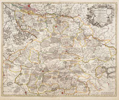 Antike Landkarten, de Wit, Deutschland, Niedersachsen, 1720: Ducatus Luneburgici et Dannebergensis Comitatus Nova Descriptio