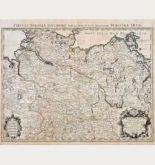 Altkolorierte Landkarte von Norddeutschland. Gedruckt bei H. Jaillot um 1690 in Paris.