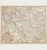 Altkolorierte Landkarte von Deutschland. Gedruckt bei F. de Wit um 1680 in Amsterdam.