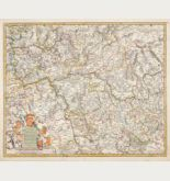 Old coloured map of Germany. Printed in Amsterdam by F. de Wit circa 1680.