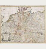Altkolorierte Landkarte von Deutschland. Gedruckt bei Covens & Mortier um 1730 in Amsterdam.