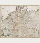 Old coloured map of Germany. Printed in Amsterdam by Covens & Mortier circa 1730.