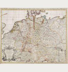 L' Allemagne, Dressee sur les Observations de Tycho-Brahe, de Kepler, de Snellius / Nova Imperii Germanici ...
