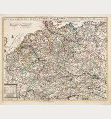 Carte Exacte des Postes et Routes de l'Empire d'Allemagne Divisee en ses Cercles / Postarum seu Veredarum