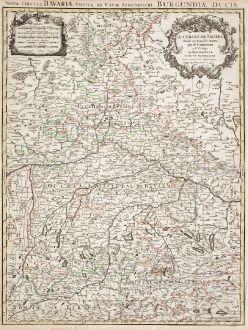 Antique Maps, Sanson, Germany, Bavaria, 1680: Le Cercle De Baviere / Nova Circuli Bavariae Tabula