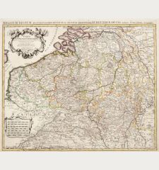 Carte des Pays Bas Catholiques / Belgium Regium