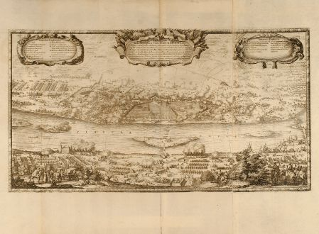 Antique Maps, Pufendorf, Poland, Torun, 1697: Delineatio Schenographica Urbis Thoruniensis