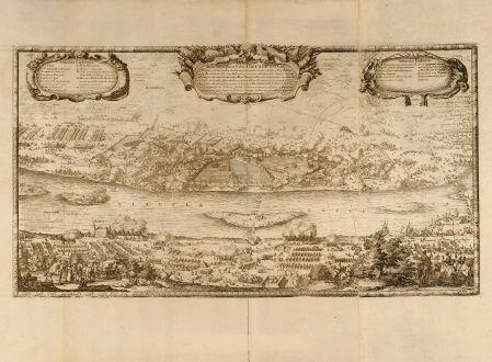 Antike Landkarten, von Pufendorf, Polen, Torun, Thorn, 1697: Delineatio Schenographica Urbis Thoruniensis