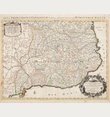 Principaute de Catalogne ou sont Compris les Comtes de Roussillon et de Cerdagne Divises en leurs Vigueries