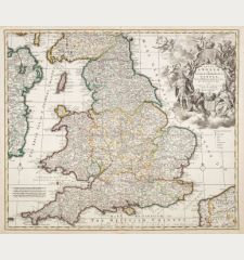 Regni Angliae et Walliae Principatus Tabula, Divisa in LII Regiones, Anglice Shire Dicatas