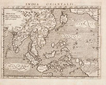 Antike Landkarten, Magini, Südost Asien, 1596: India Orientalis