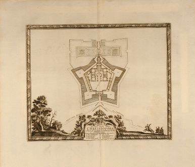 Antike Landkarten, von Pufendorf, Polen, Chrzistopora, 1697: Elegentissima et bene munita Arx. Chrzistopora.