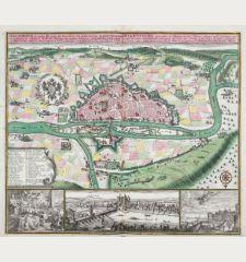 Regensburg eine mitten in Bayren an der Donau gelegene / Ratisbona in media Bavaria