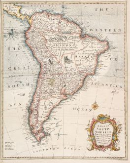 Antike Landkarten, Seale, Südamerika, 1754: A Map of South America with All the European Settlements & Whatever Else is Remarkable from the Latest & Best Observations.