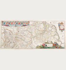 Rhenus Fluviorum Europae Celeberrimus, cum Mosa, Mosella, et Reliquis, in illum se Exonerantibus, Fluminibus