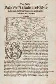 Antike Holzschnitt-Landkarte von Frankreich. Gedruckt bei Heinrich Petri im Jahre 1550 in Basel.