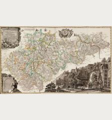Carte von Ertzgebürgischen Creysse in Churfurstenthum Sachssen mit allen derinnen befindlichen Aembtern und Herrschafften...