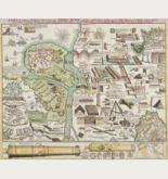 Kupferstich des Genre Militär und Schlachten. Gedruckt bei J. B. Homann um 1720 in Nürnberg.