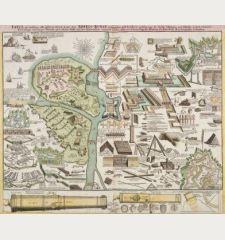 Tafel in welcher alle gehörige Werck-zeuge zur Kriegs-Kunst, Vestungs-bau und Artillerie, zu Belagerung der Stätte,...
