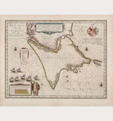 Tabula Magellanica, qua Tierrae del fuego cum celeberrimis fretis a F. Magellano et I. Le Maire detectis novissima et...