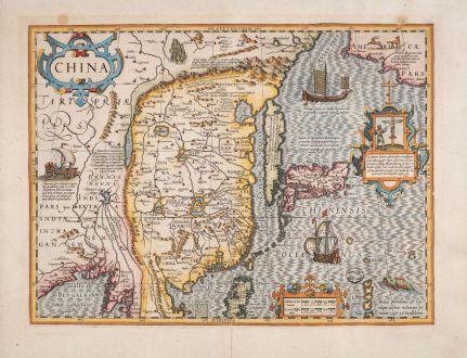 Antique Maps, Hondius, China, 1623: China